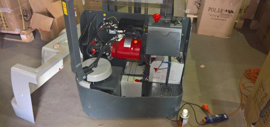Эксплуатация электроштабелера зимой